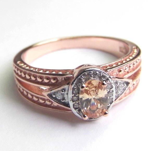 Engagement 1.20ct Simulated MORGANITE Silver Ring